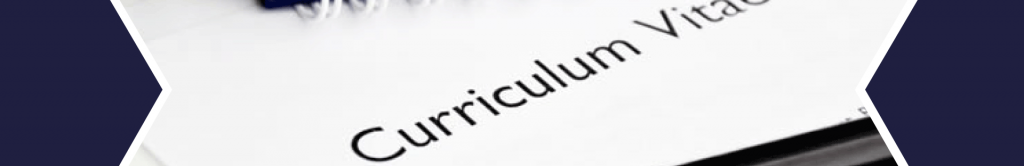 banner showing a curriculum vitae